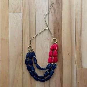 Blue, Magenta and Gold Necklace from Francesca's
